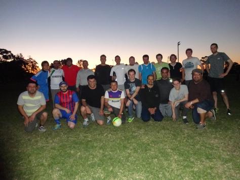 毎週、金曜日は研究室のお兄さん・オッサンたちとサッカー